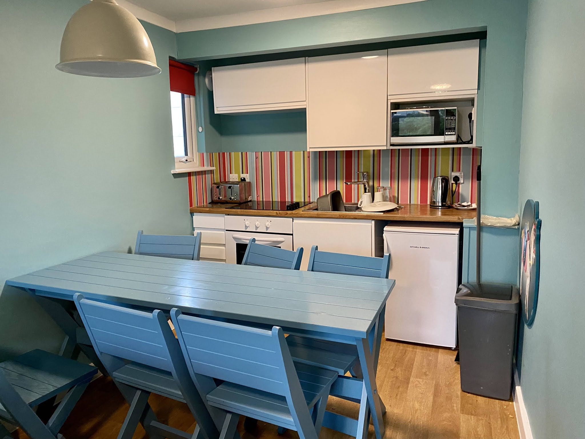The kitchen and dining room at Butlin's is basic and you need to pack a few extras