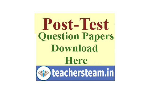 Download Post Test Question Papers