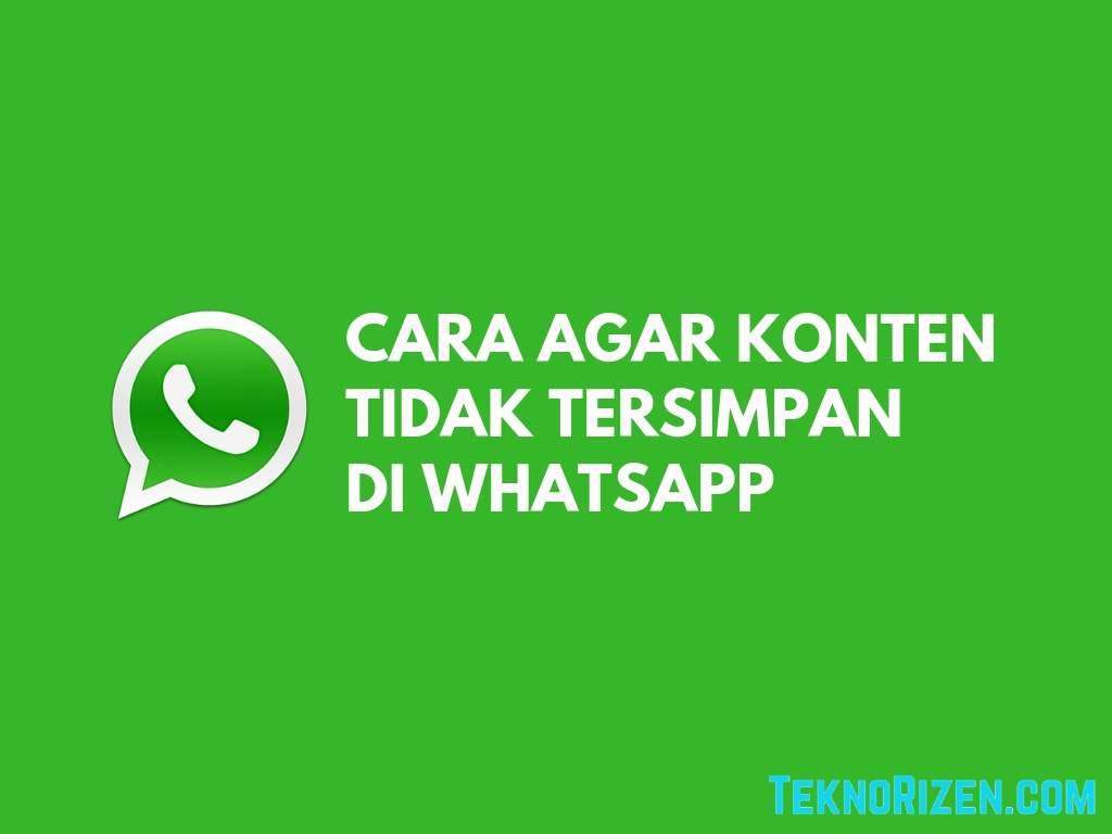 Cara Agar Foto Video WhatsApp Tidak Tersimpan Otomatis di Galeri Tutorial Agar Foto Video WhatsApp Tidak Tersimpan Otomatis di HP