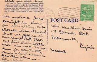 Postcard Hershey Park 1948 https://jollettetc.blogspot.com
