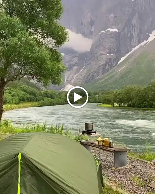 Setup For The Night By a Gorgeous River in Stryn, #Norway
