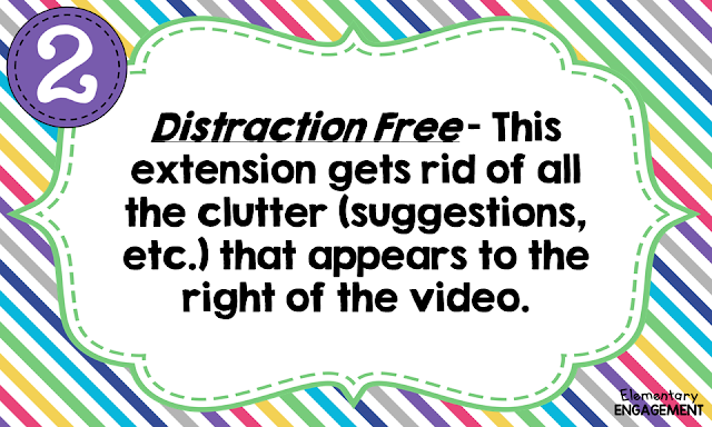 Distraction Free Extension clears up the clutter on YouTube.
