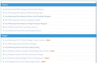 Sitemap SEO Blogspot Versi Pertama