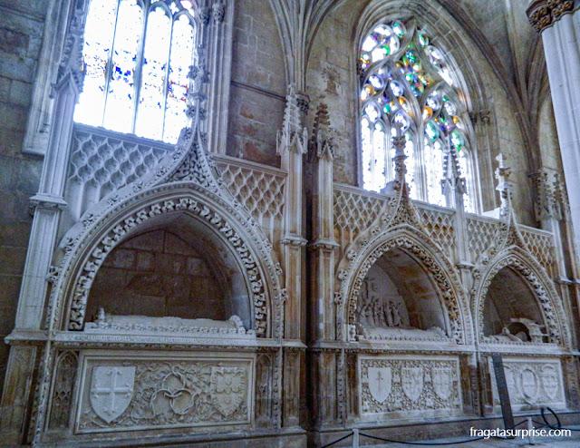 Túmulos dos infantes da Casa de Avis, na Capela do Fundador, Mosteiro da Batalha, Portugal