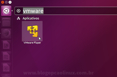 Atalho do VMware Workstation Player no Ubuntu