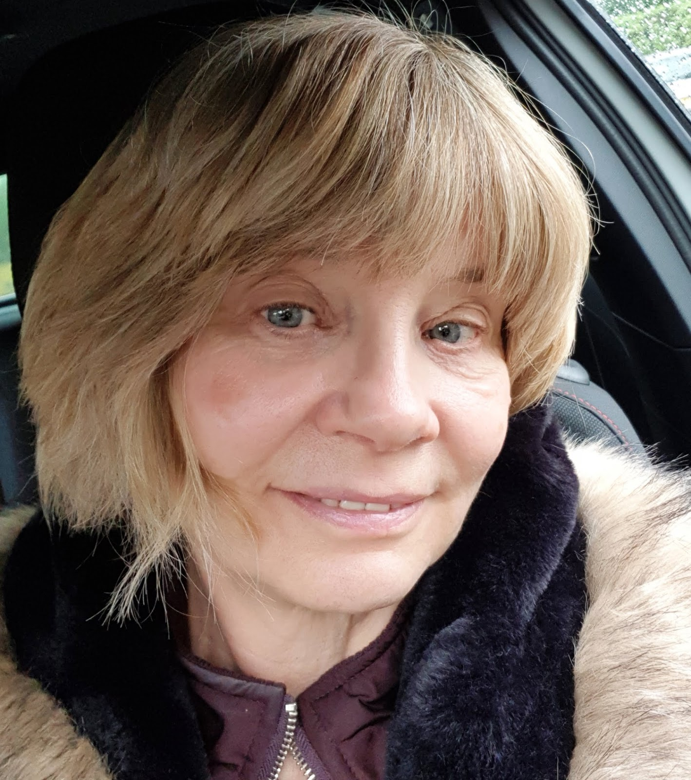 Over 50s blogger Gail Hanlon after a facial aimed at stimulating collagen production