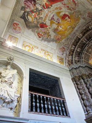 afrescos da parede da capela da vista alegre