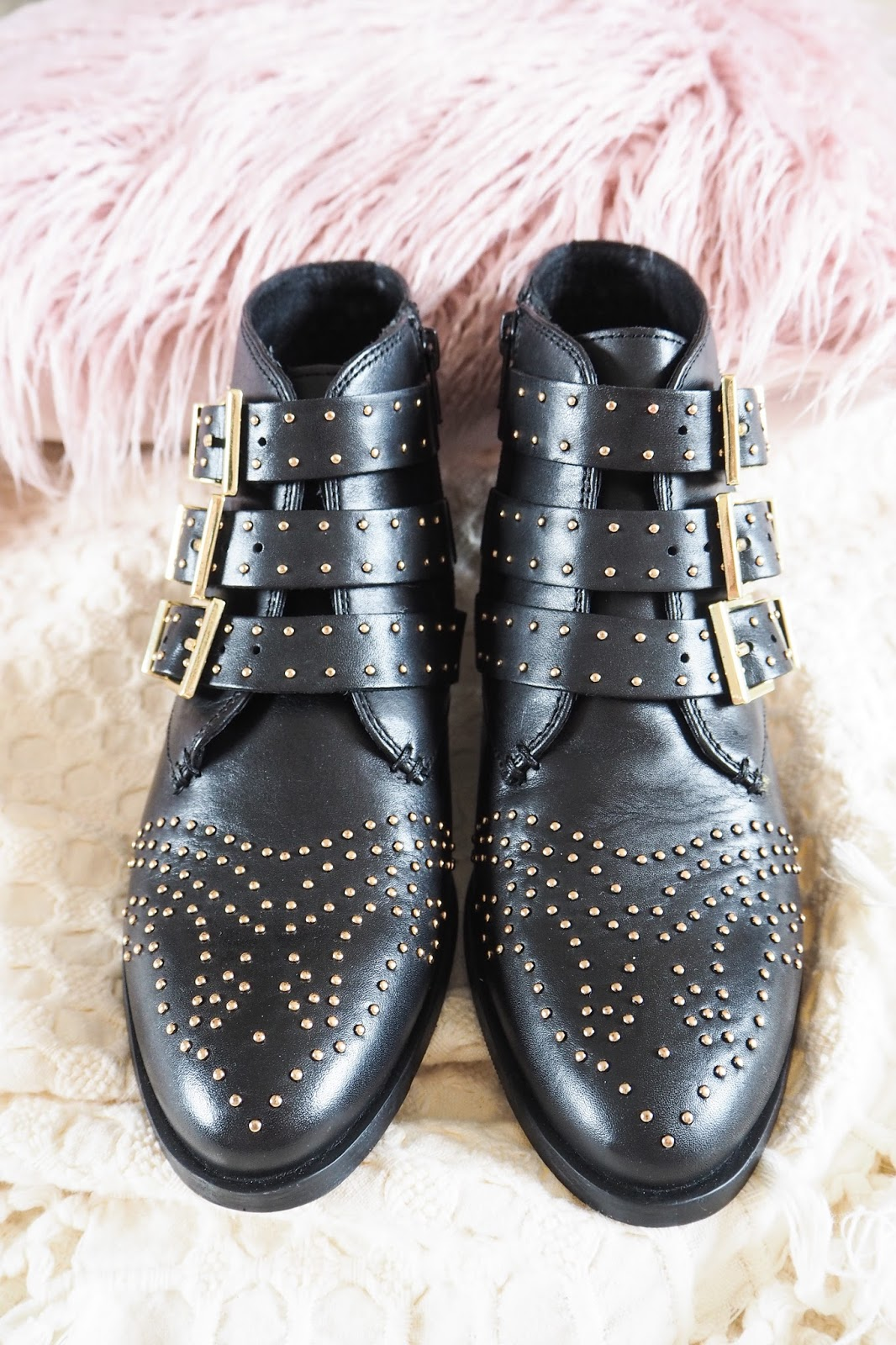 Office Lucky Charm Boots which are dupes for the Chloe Susanna Boots