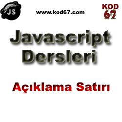 javascript-aciklama-satiri