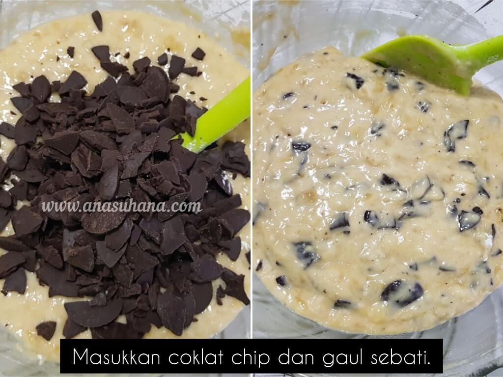 Resipi Muffin Pisang Coklat Sukatan Cawan Tanpa Mixer