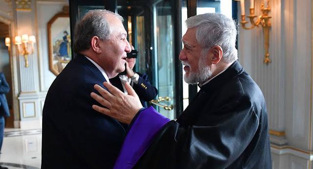 Armen Sargsyan se reúne con Aram I en Ginebra
