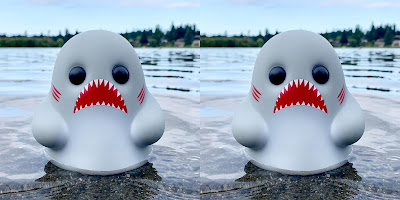 Tiny Ghost D'AWS Edition Vinyl Figures by Reis O'Brien x Bimtoy x Bottleneck Gallery