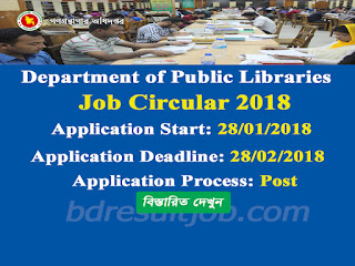 Department of Public Libraries Recruitment Circular 2018