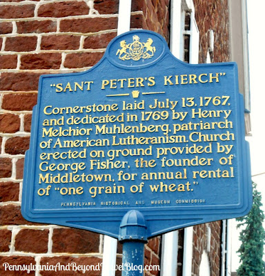 Sant Peter's Kierch Historical Marker in Middletown Pennsylvania