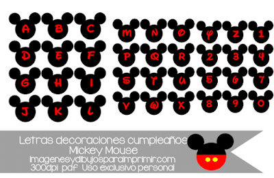 Letras de Mickey mouse para recortar