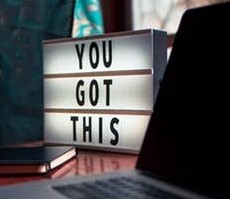 """""""YOU GOT THIS"""" on a lighted box"""