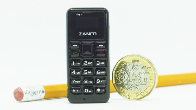 Zanco tiny t1 in comparison to a coin