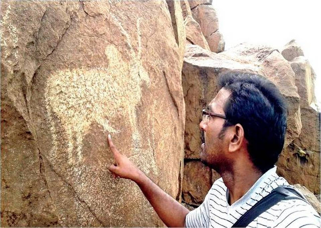 Large petroglyph site discovered in India