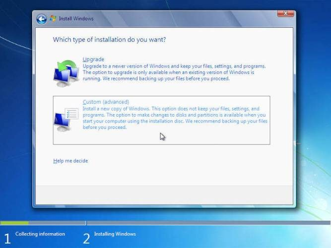 langkah 10: cara instal windows 7, advanced
