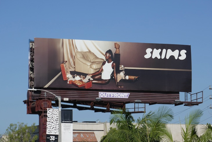 Skims shapewear billboard