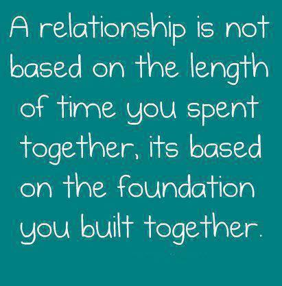good foundations in a relationship