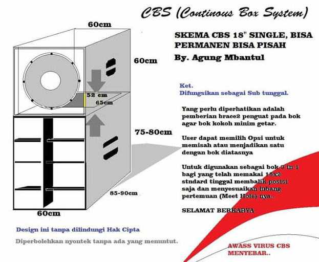 Skema box CBS 18 inch