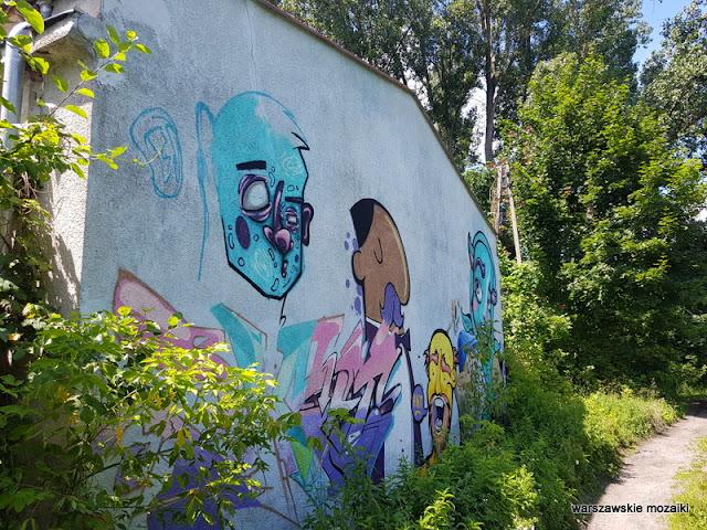 mural Warszawa Warsaw Olszynka Grochowska Kozia Górka teatry warszawskie obóz jeniecki historia