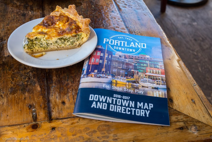 Portland, Maine Downtown Map & Directory 2016/2017 cover photo by Corey Templeton. April 2016.