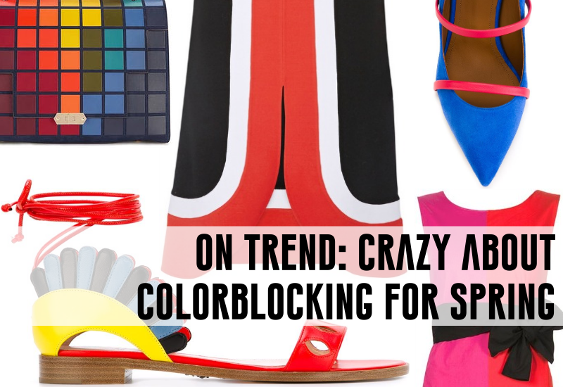 on trend colorblocking for spring