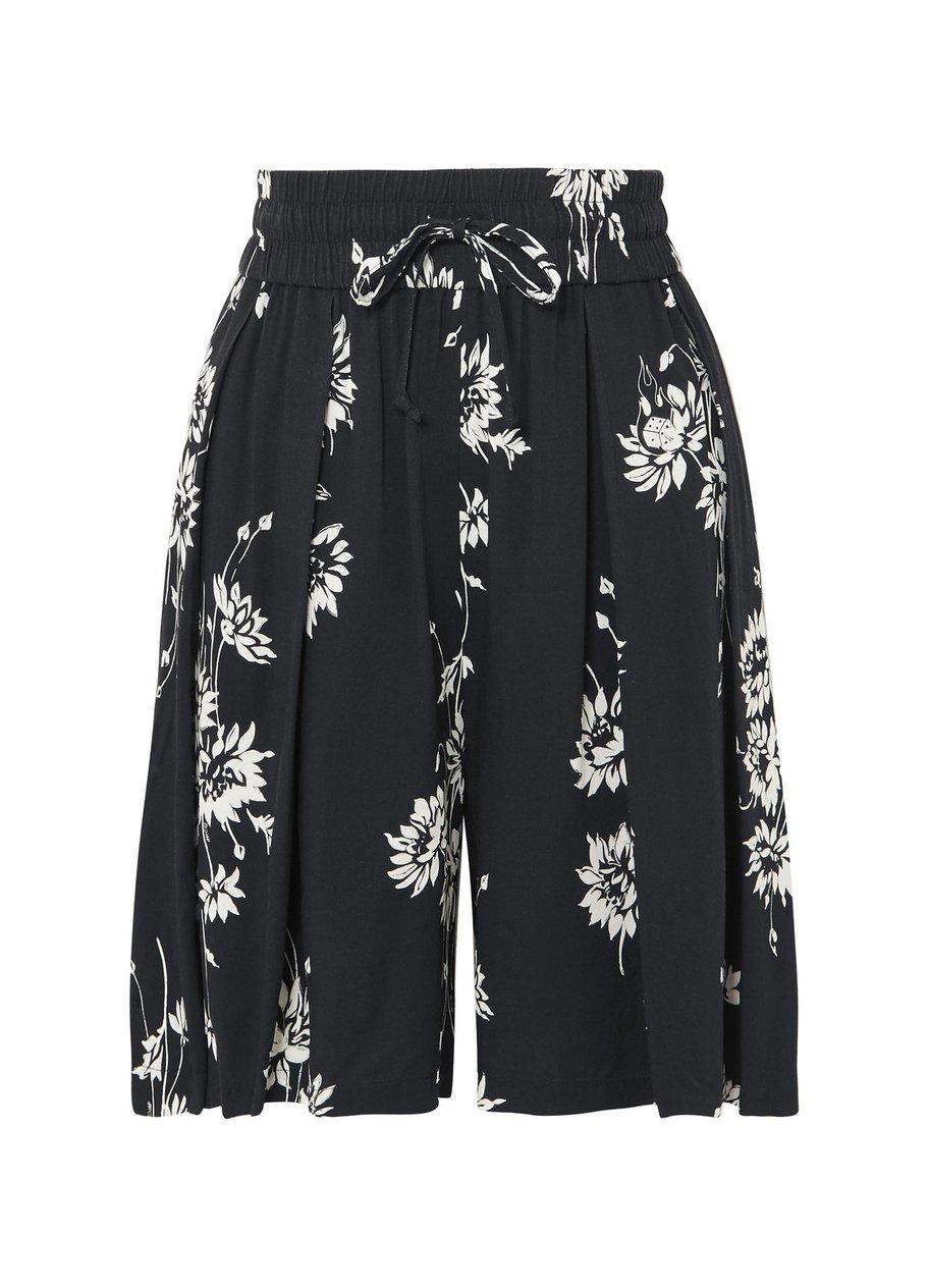 Shorts aus plissiertem Crêpe mit Blumen-Print von Alexander McQueen über Net-a-Porter, um 170 €