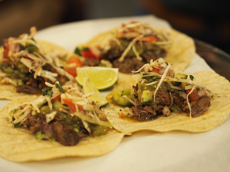 Beef tacos at Latinway in Aberdeen