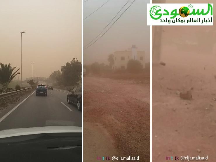 بالفيديو : #عاصفة قوية ستضرب المغرب والقنوات صامتة وفاة سائق سيارة أجرة بسبب الرياح