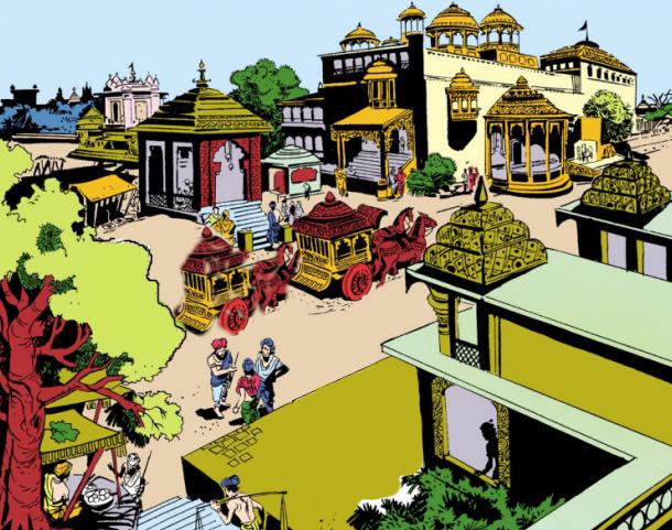 A palace in Dwaraka