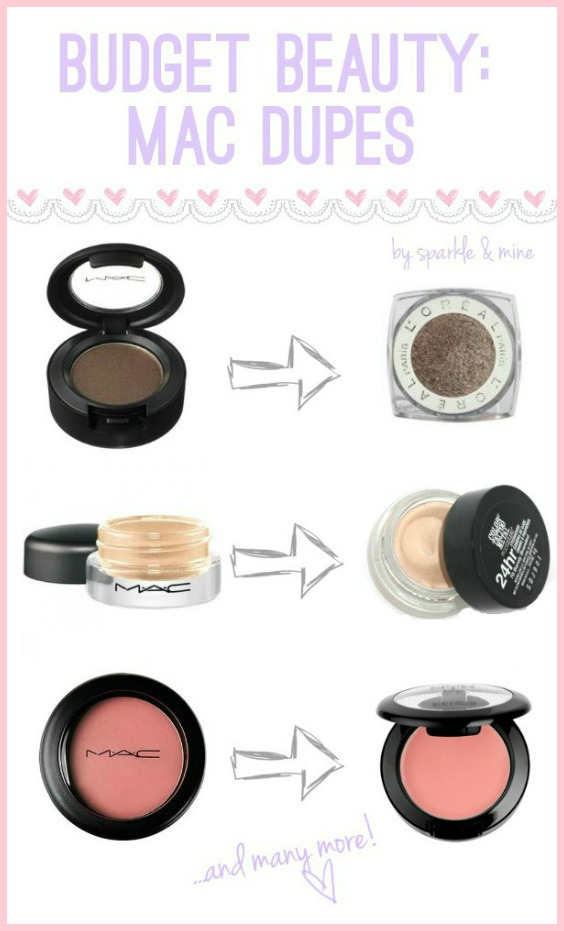 Sparkle & Mine: Budget Beauty: MAC Dupes