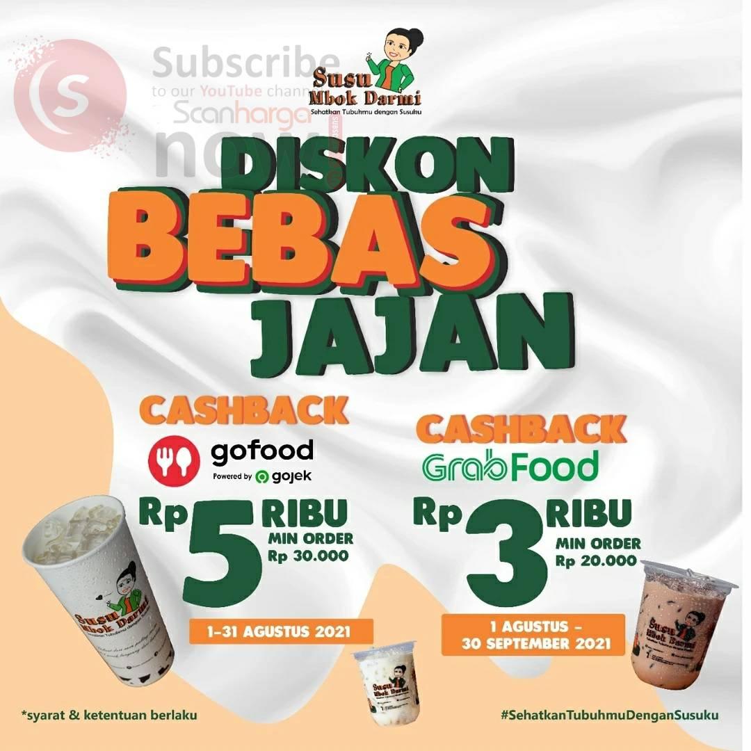 Promo SUSU MBOK DARMI Cashback hingga Rp. 3.000 via Grabfood