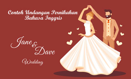 Undangan pernikahan Bahasa Inggris