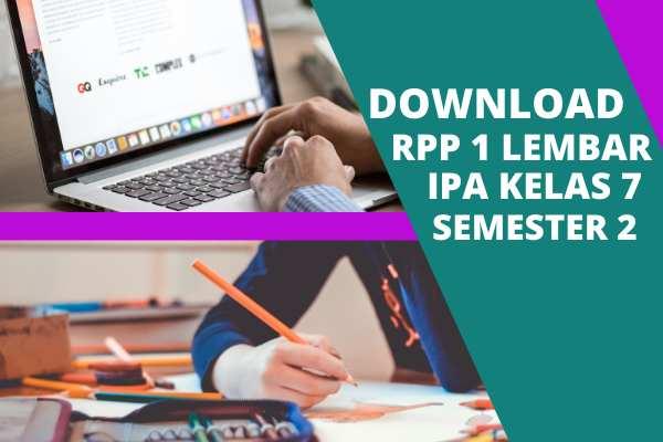 Download  RPP 1 Lembar IPA Kelas 7 SMP/MTs Semester 2