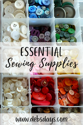 Essential supplies for sewing projects