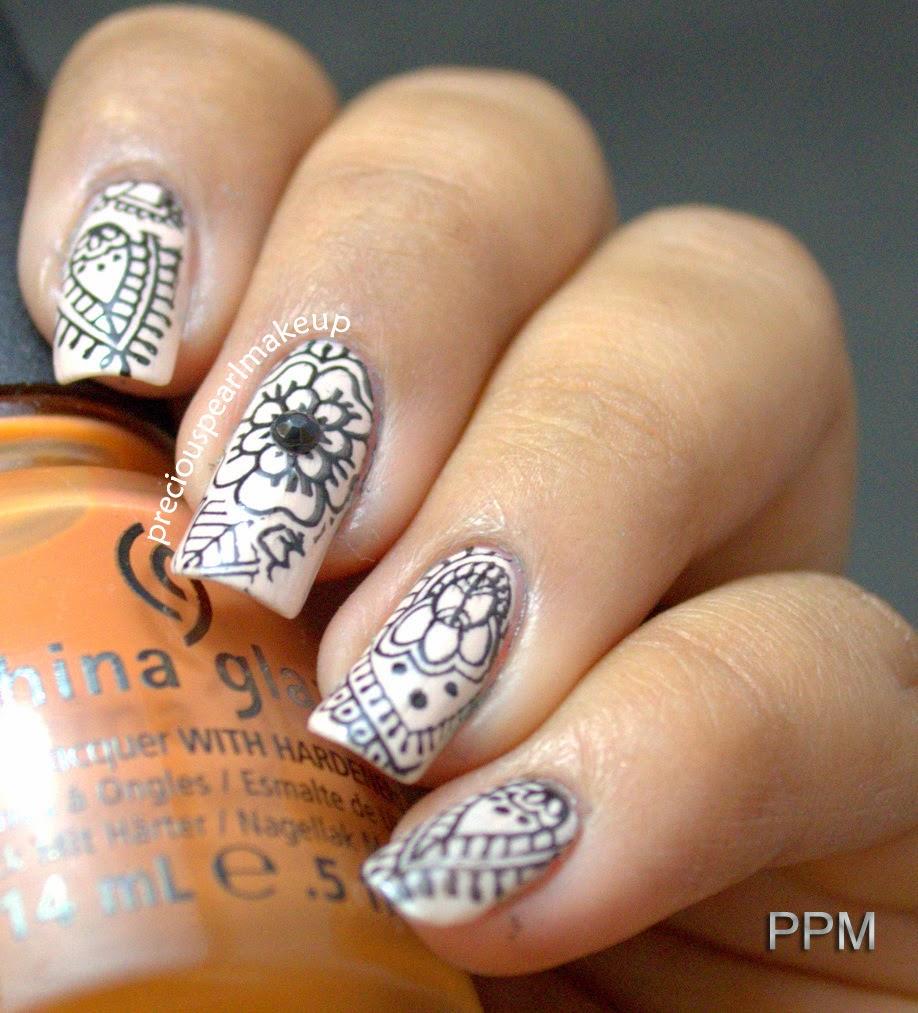 Nail Art Henna: Preciouspearlmakeup: Black Glow