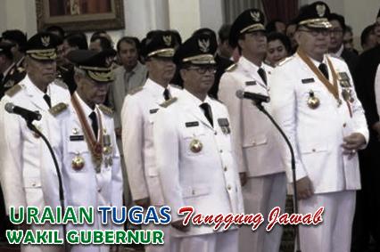 Tugas Dan Tanggungjawab Wakil Gubernur