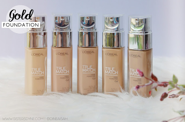 Loreal Paris True Match Gold Shades