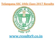 Telangana SSC 10th Class March 2017 Exam Results