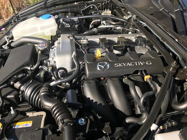 Engine detail in 2020 Mazda MX-5 Miata