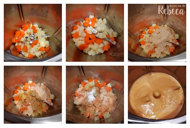 Receta de salsa vegana con sabor a queso: triturado