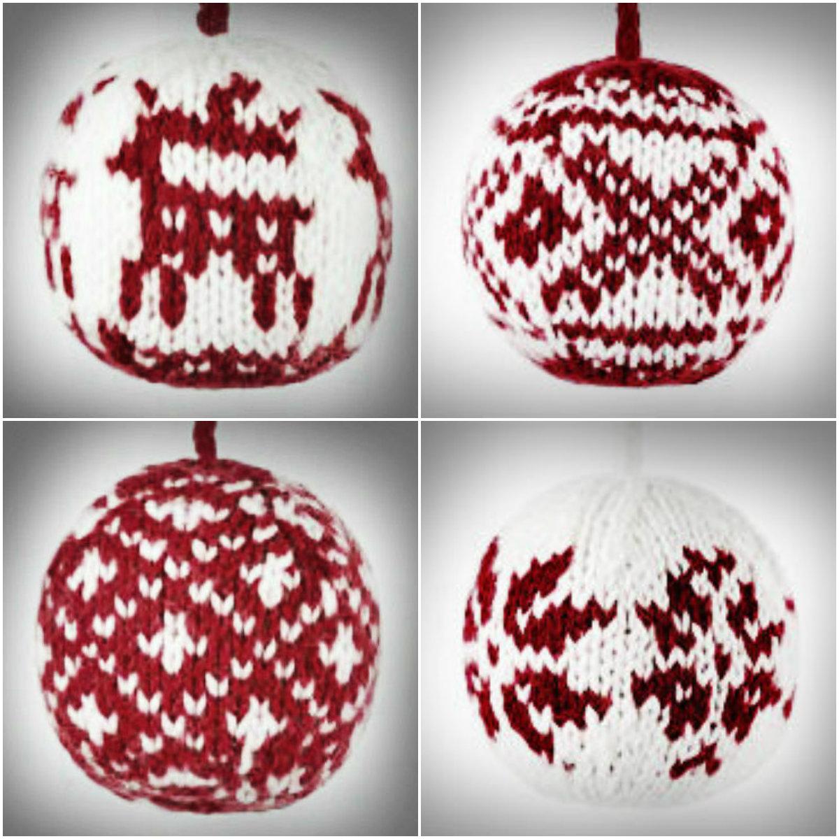 gk kreativ: Julekuler - Weihnachtskugeln stricken