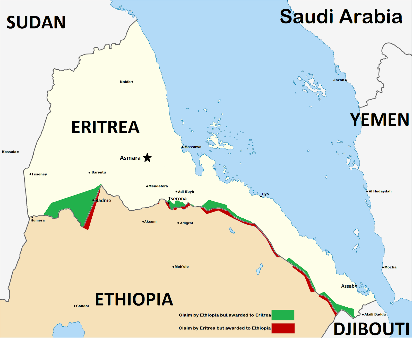 eritrea ethiopia border map, science blog