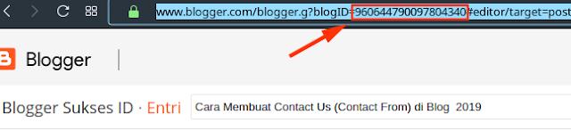 cara mengetahui ID blog sendiri