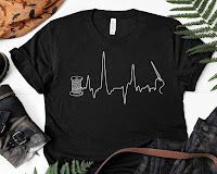 Sewing heartbeat t-shirt