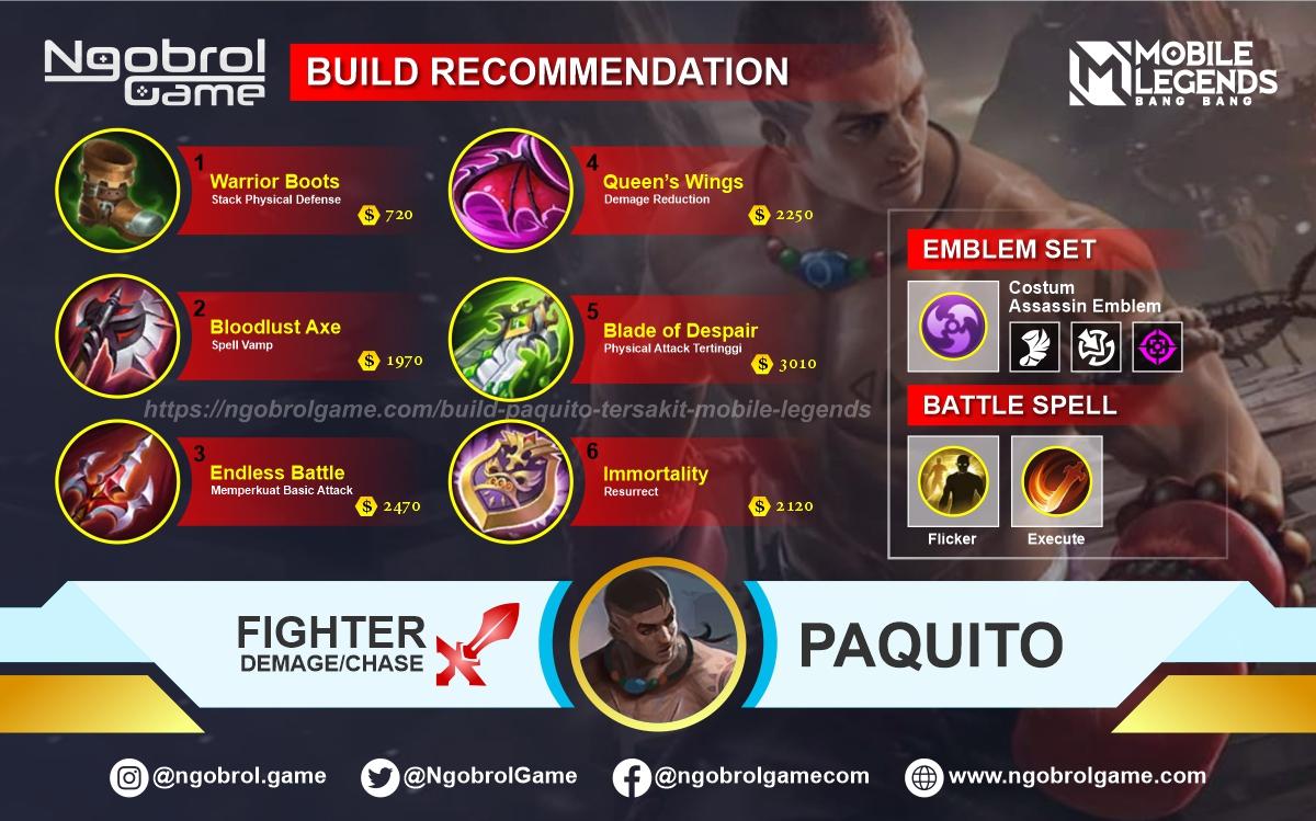 Build Paquito Tersakit 2021 Mobile Legends