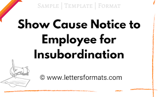 Show Cause Notice to Employee for Insubordination